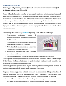 Tabelle su Monitoraggio Strutturale