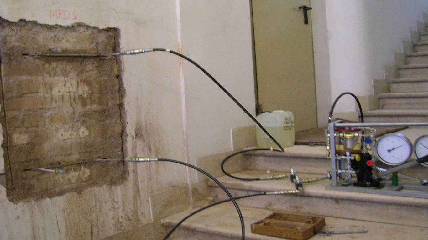 indagine su muratura in loco